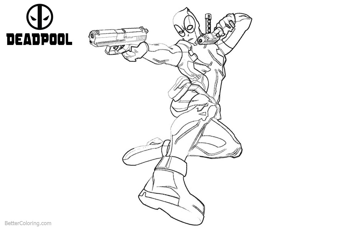 Deadpool 2 Coloring Pages printable for free