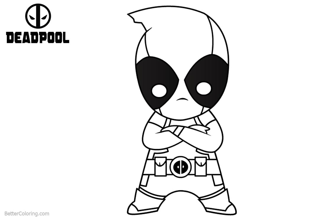 Deadpool Coloring Pages Baby Deadpool Line Drawing - Free Printable ...