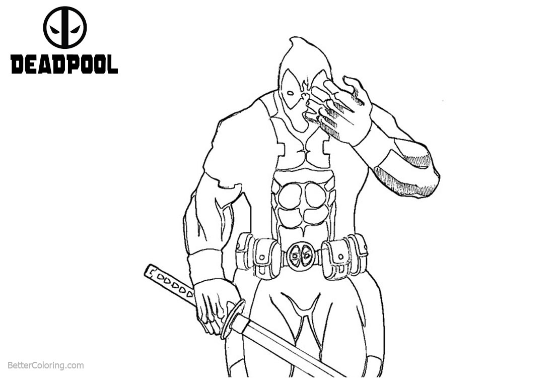 Deadpool Coloring Pages Eyes Hurt printable for free