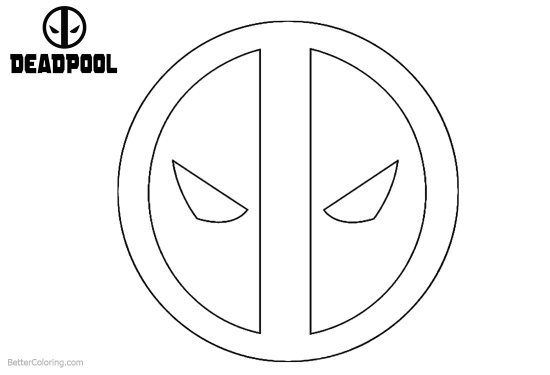 Deadpool Coloring Pages Logo printable for free