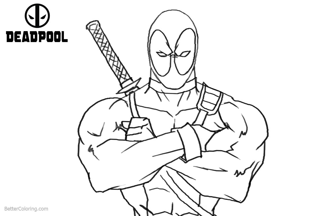 Deadpool Coloring Pages: Deadpool Coloring Pages From Marvel Comics
