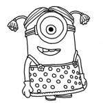 Despicable Me Minion Coloring Pages Character