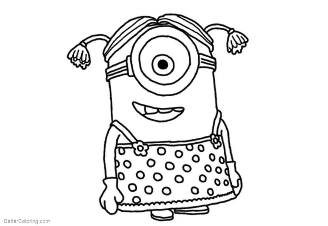 Despicable Me Minion Coloring Pages Character printable for free