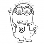 Despicable Me Minion Coloring Pages Lineart