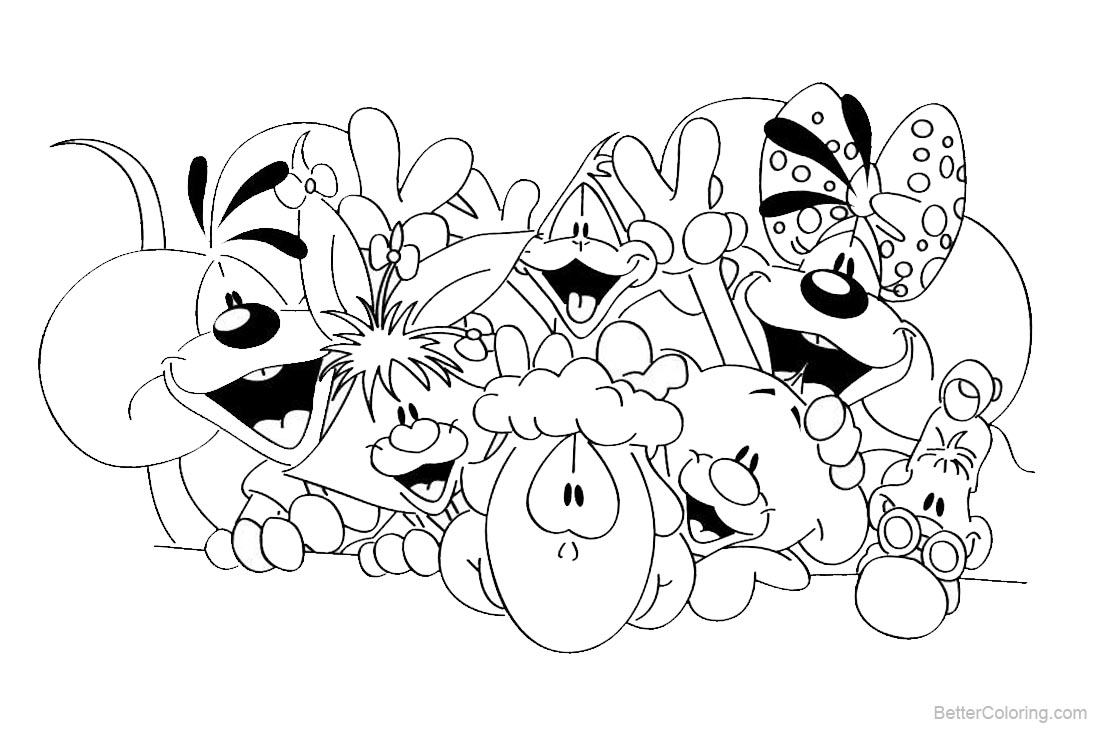 Diddl Coloring Pages Characters Lineart printable for free