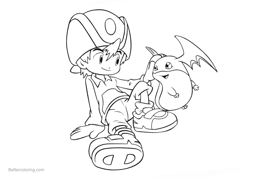 Free Digimon Coloring Pages Adventure printable