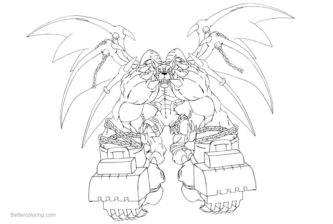 Free Digimon Coloring Pages Belphemon by Neoarchangemon printable