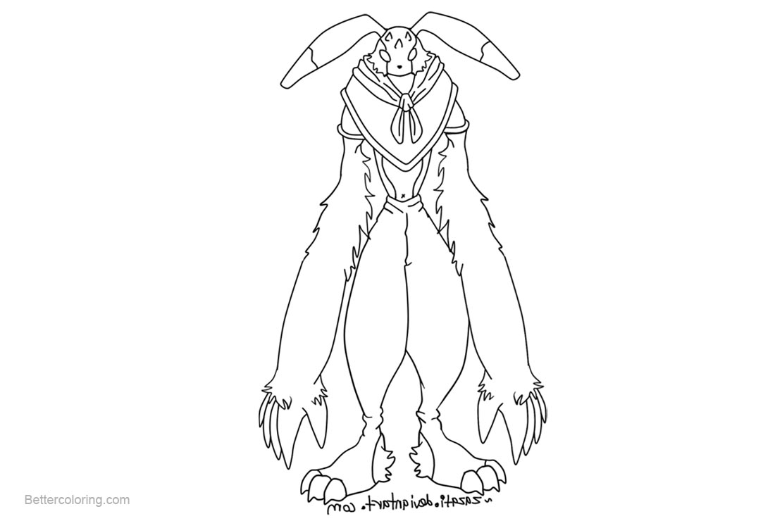 Free Digimon Coloring Pages Black and White by zazati printable