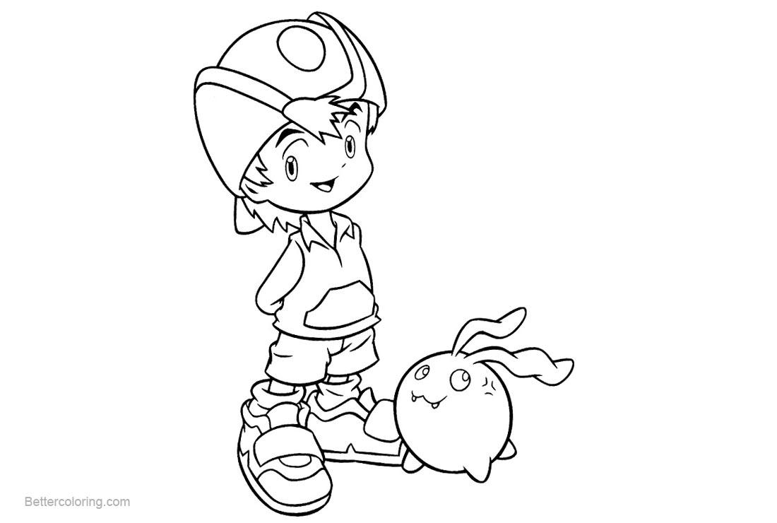 Free Digimon Coloring Pages Digimony Detskie Raskraski printable
