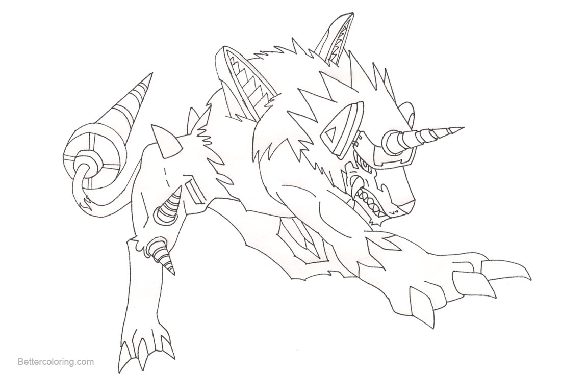 new digimon coloring pages - photo#17