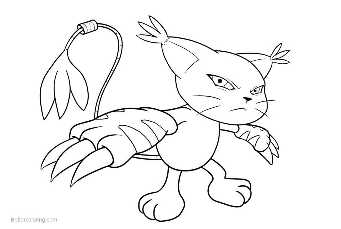 Free Digimon Coloring Pages Gatamon by petarmkd printable