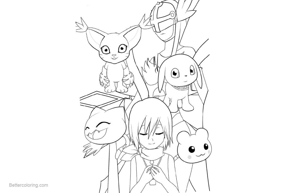 Free Digimon Coloring Pages Kari Outline by kleenesoph printable