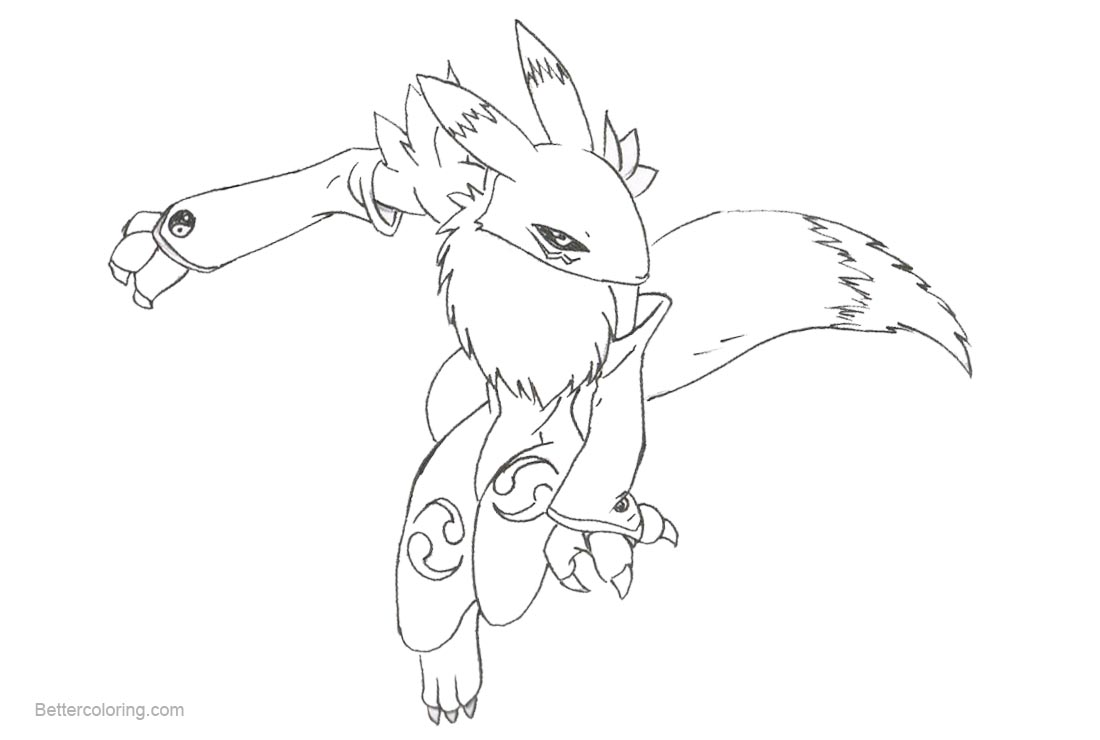 Digimon Coloring Pages Renamon by princewaffle - Free Printable ...