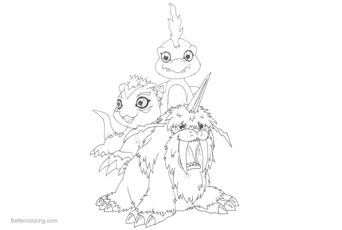 Free Digimon Coloring Pages by kakashi95girl printable