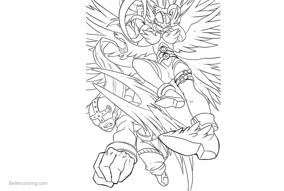 Free Digimon Coloring Pages printable