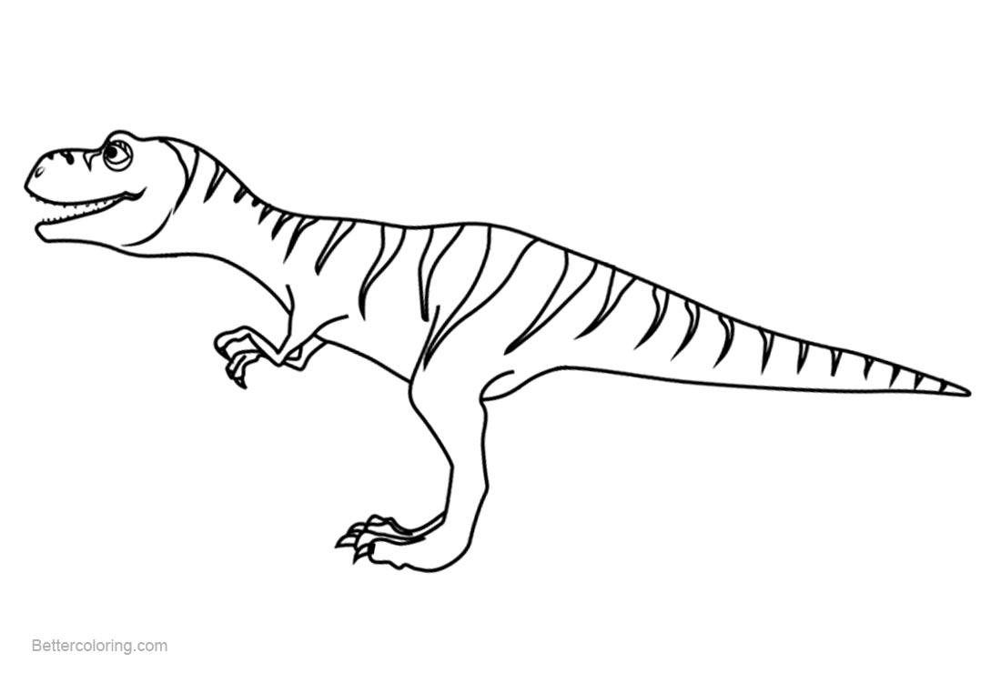 Dinosaur Train Coloring Pages Boris Tyrannosaurus - Free Printable ...
