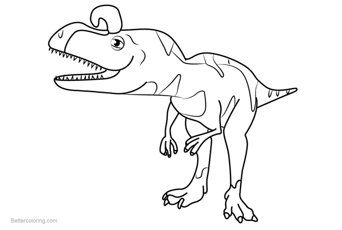 Dinosaur Train Coloring Pages Crystal Cryolophosaurus - Free ...