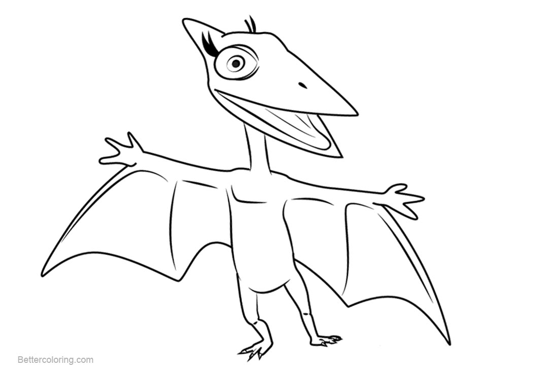 free dinosaur train coloring pages don pteranodon printable for kids and adults