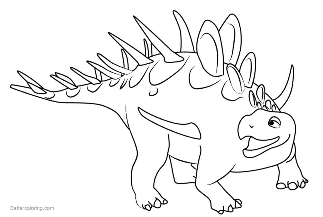 Dinosaur Train Coloring Pages Kenny Kentrosaurus - Free ...