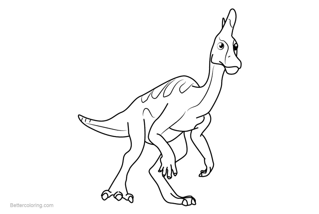 Free Dinosaur Train Coloring Pages Larry Lambeosaurus printable