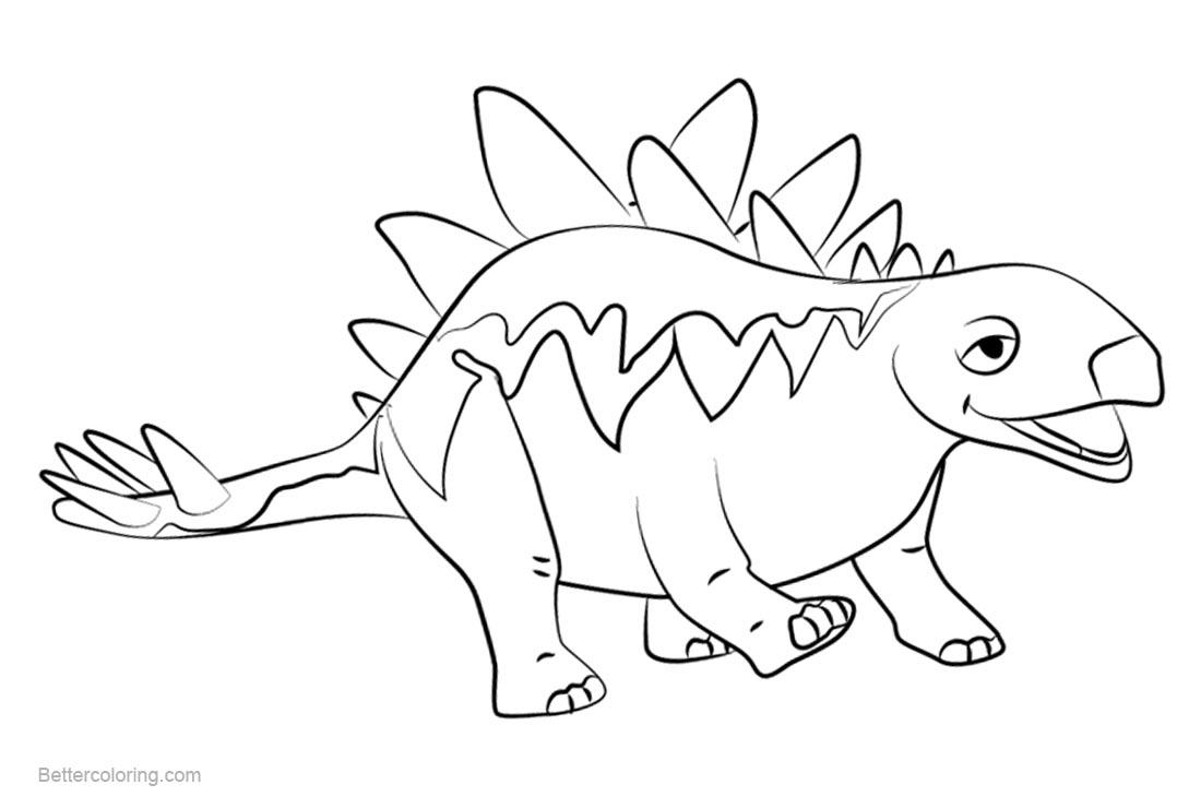 Free Dinosaur Train Coloring Pages Morris Stegosaurus printable
