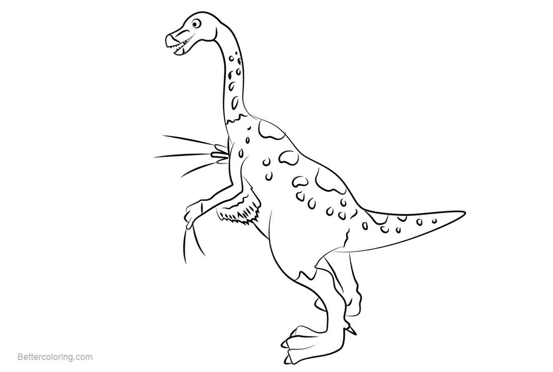 Free Dinosaur Train Coloring Pages Mr Therizinosaurus printable