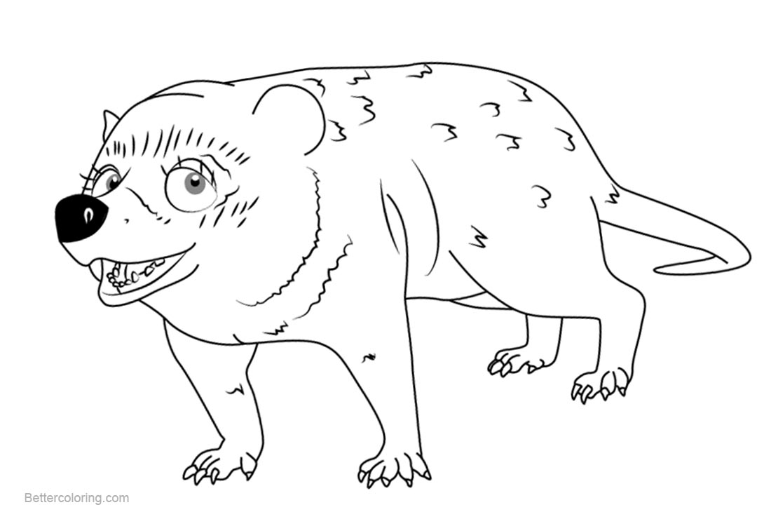 Free Dinosaur Train Coloring Pages Selma Cimolestes printable