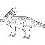 Dinosaur Train Coloring Pages Stephie Styracosaurus Free Printable