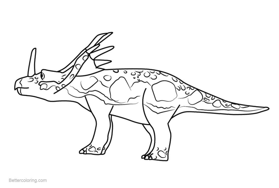 Free Dinosaur Train Coloring Pages Sonja Styracosaurus printable