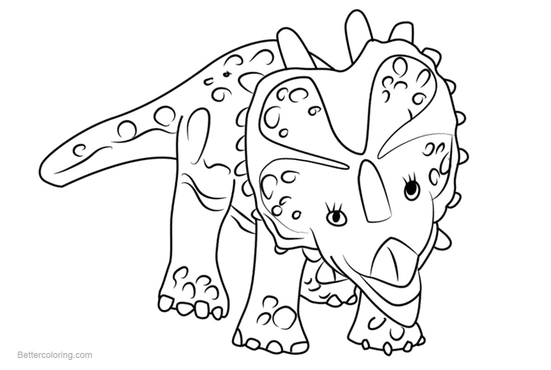 dinosaur train coloring pages stephie styracosaurus free printable coloring pages. Black Bedroom Furniture Sets. Home Design Ideas
