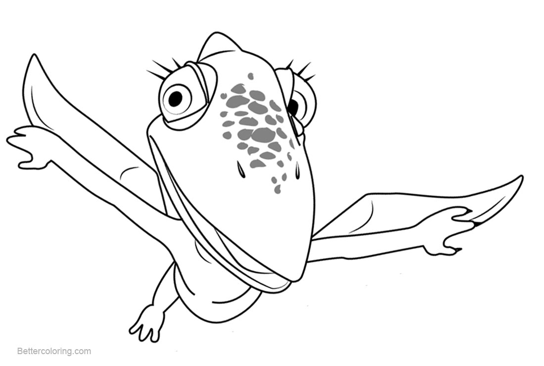 Free Dinosaur Train Coloring Pages Tiny Pteranodon printable