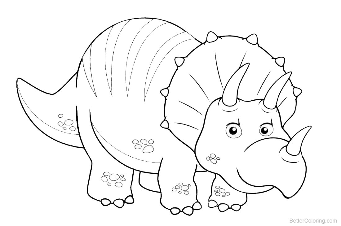 Dinosaurs Coloring Pages printable for free
