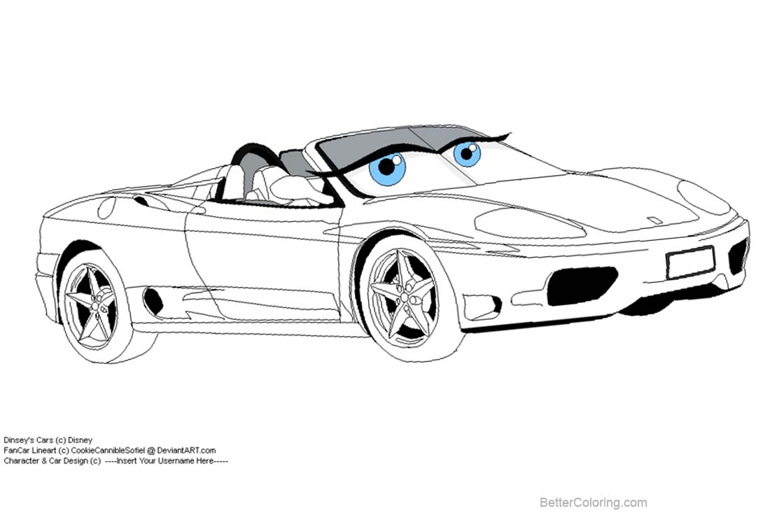 Disney Pixar Cars Coloring Pages By Cookiecannibles Free Printable