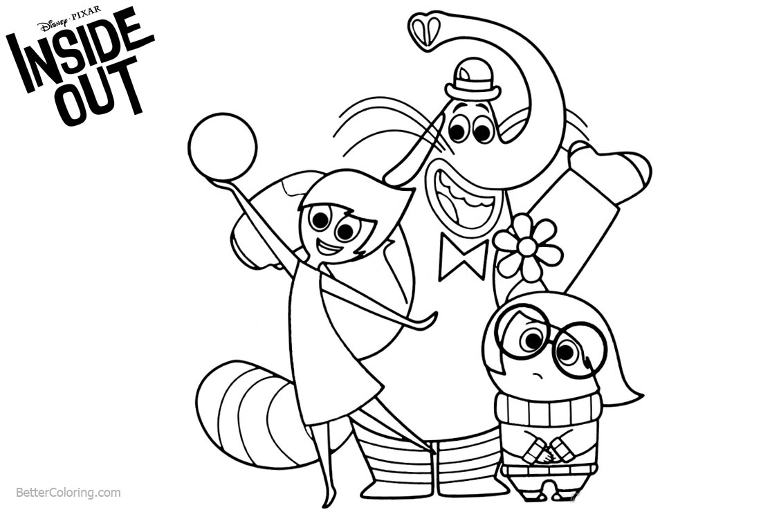 Disney Pixar Inside Out Coloring Pages printable for free