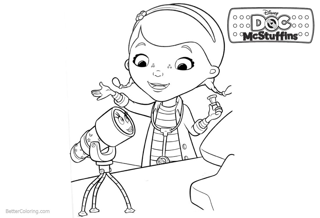 Doc McStuffins Coloring Pages Aurora printable for free