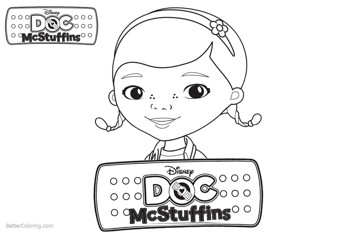 Doc McStuffins Coloring Pages Character Dottie - Free Printable ...