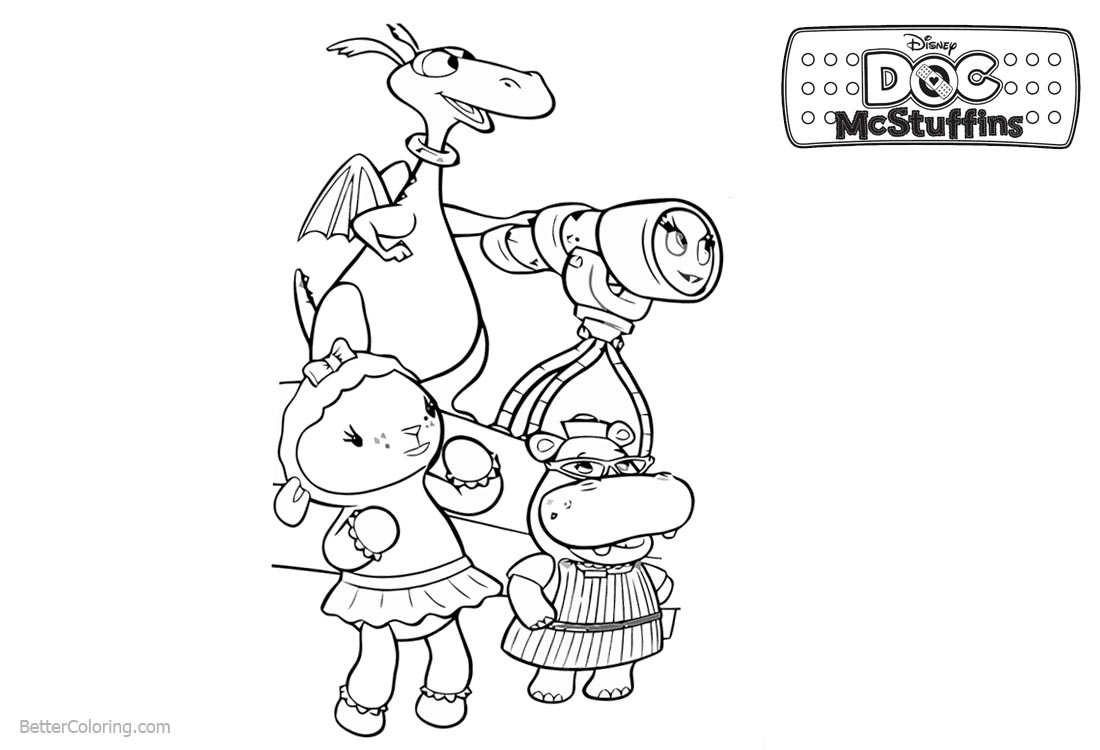 Doc McStuffins Coloring Pages Characters printable for free