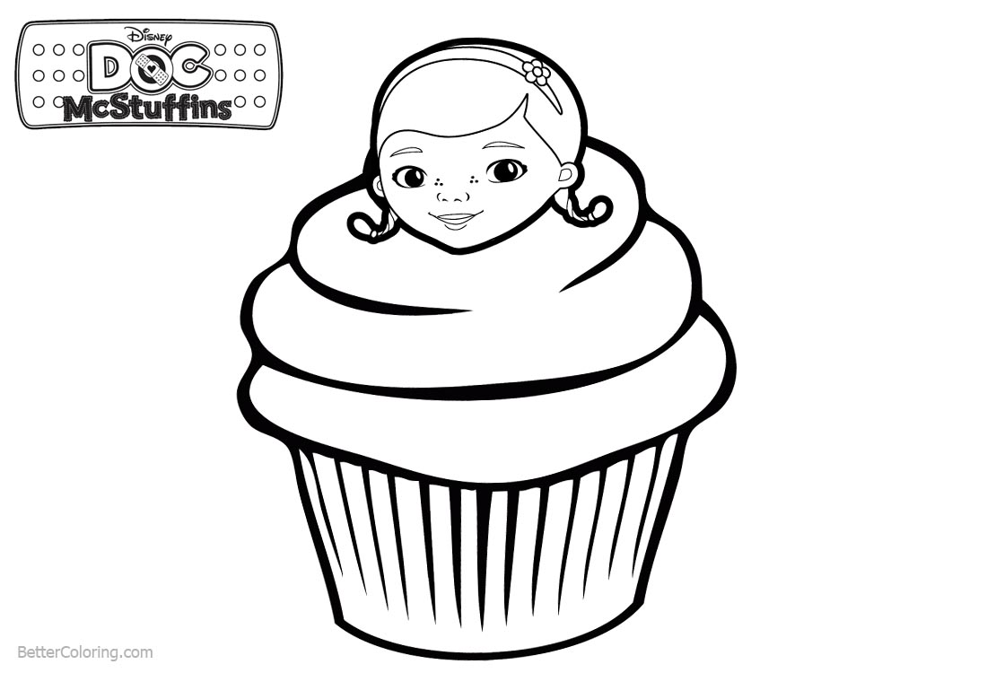 Doc McStuffins Coloring Pages Cupcake printable for free