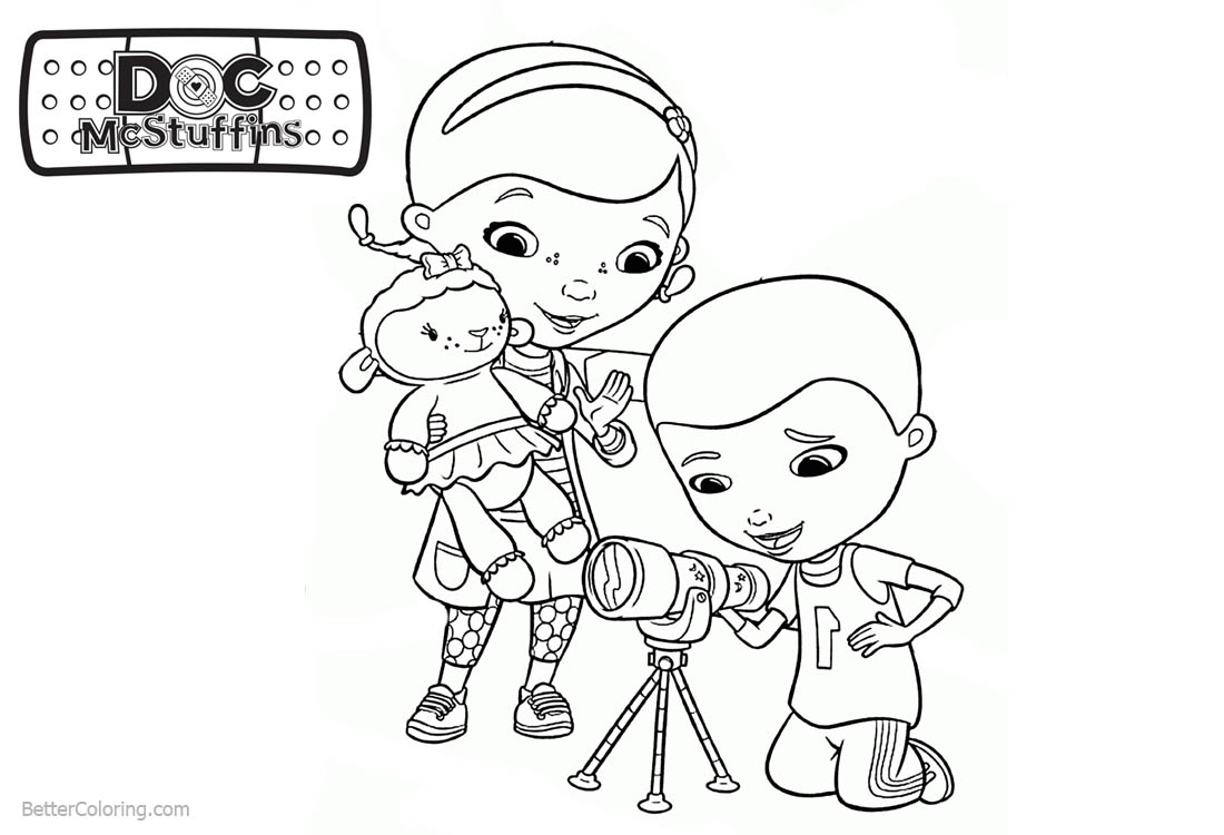 photo relating to Doc Mcstuffins Printable Coloring Pages identify Document McStuffins Coloring Webpages Dottie and Mr McStuffins