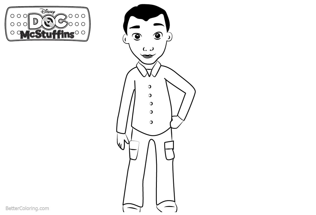 Doc McStuffins Coloring Pages Marcus printable for free