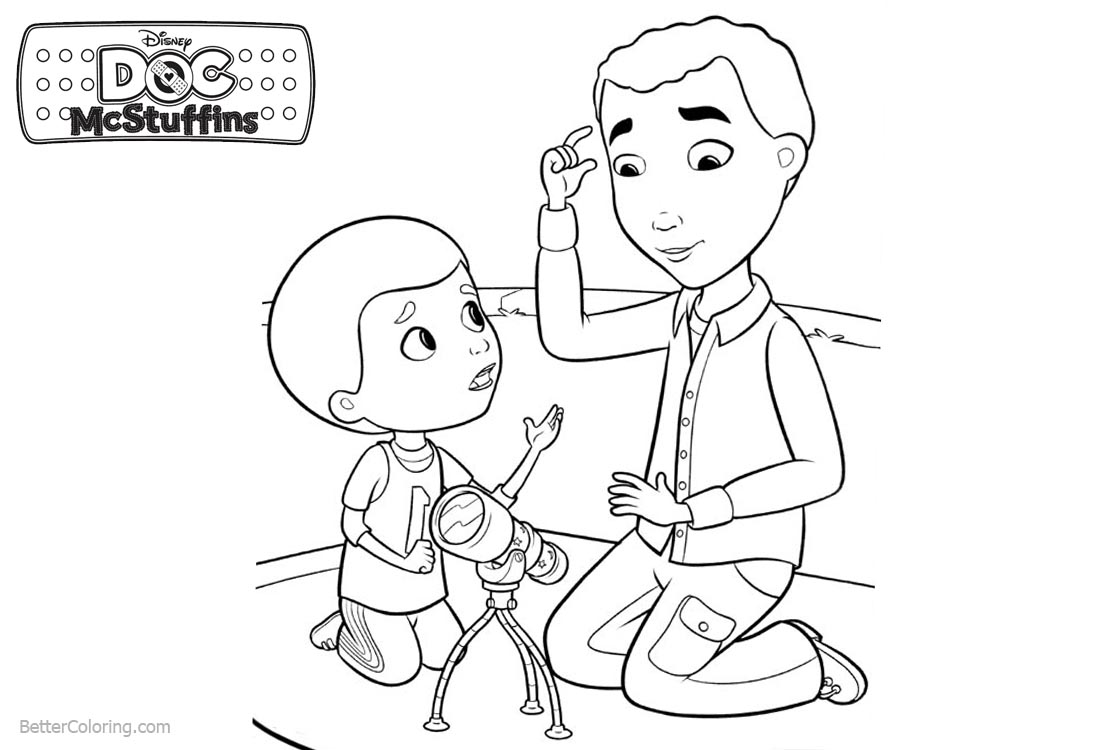 Doc McStuffins Coloring Pages Play with Aurora printable for free