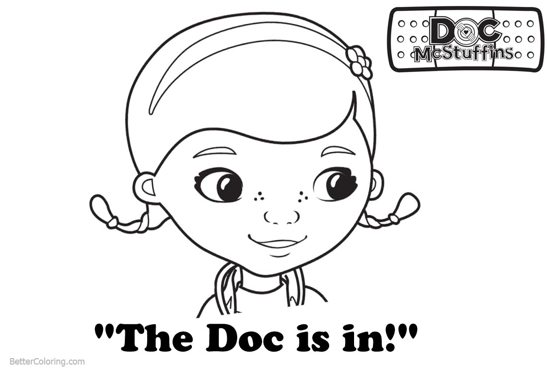Doc McStuffins Coloring Pages The Doc is In - Free Printable ...