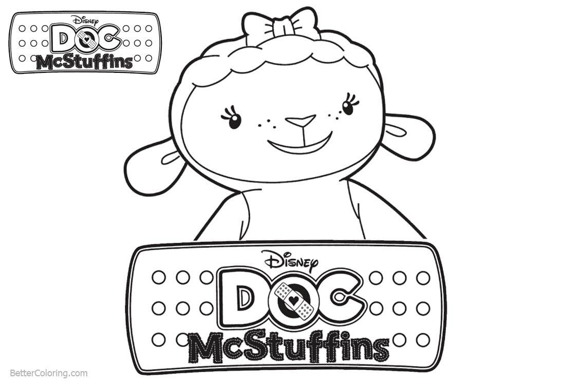 Doc McStuffins Lambie Coloring Pages printable for free