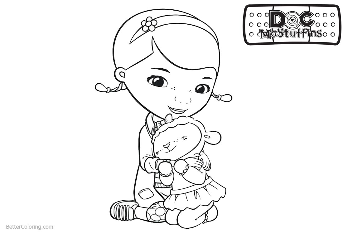 Doc McStuffins Lambie and Dottie Coloring Pages printable for free