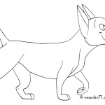 Dog Coloring Pages Line Drawing Picture