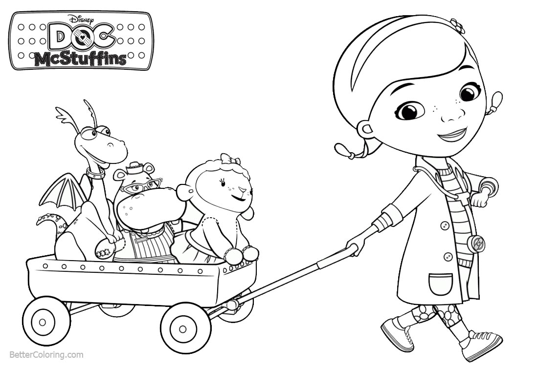Dottie and Friends from Doc McStuffins Coloring Pages - Free ...