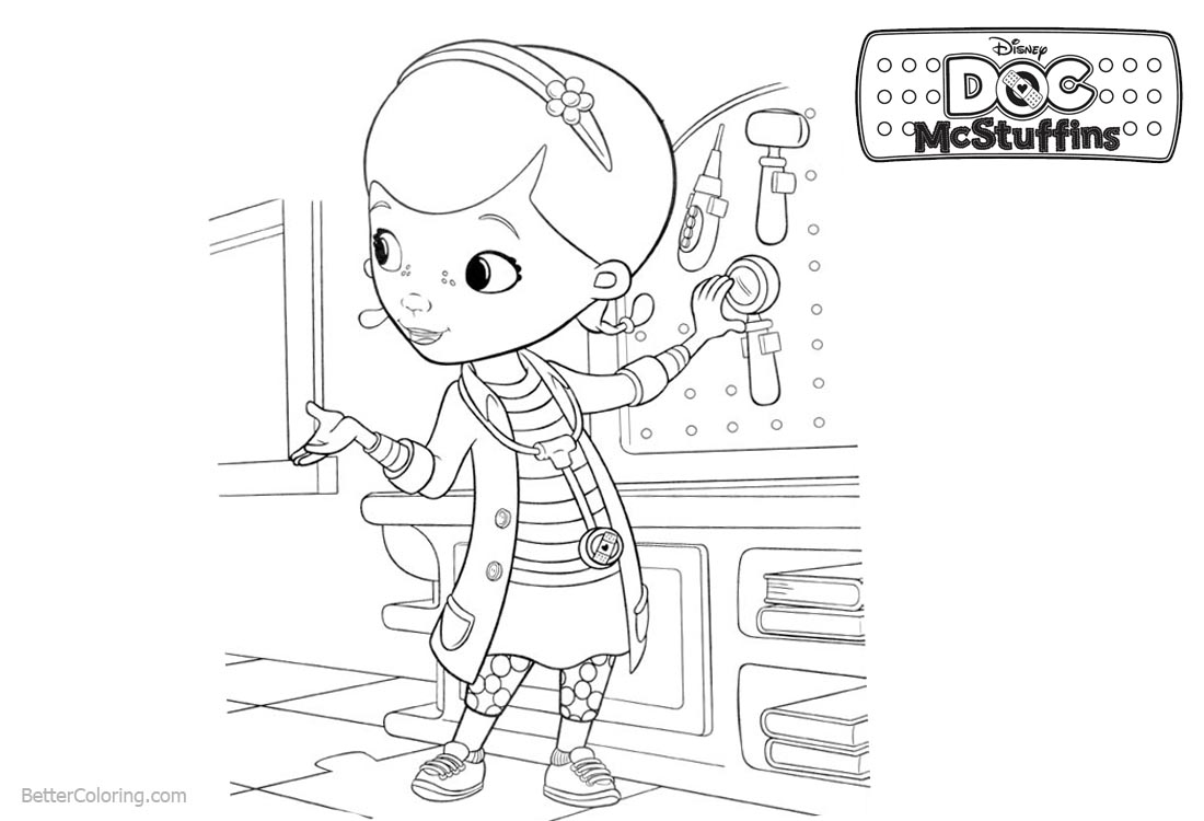 Dottie from Doc McStuffins Coloring Pages printable for free