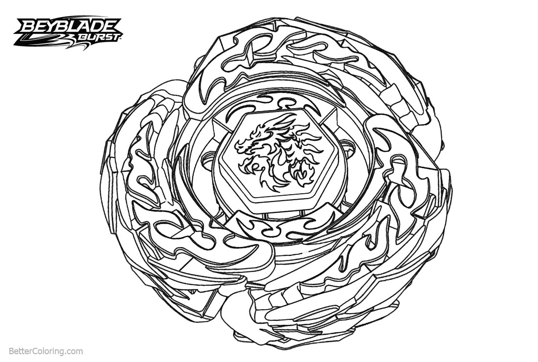 Dragon Beyblade Burst Coloring Pages - Free Printable ...