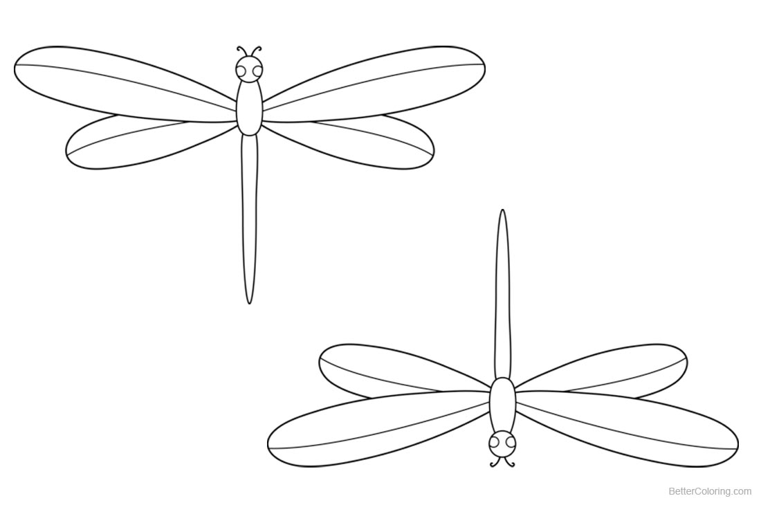 Dragonflies Coloring Pages printable for free