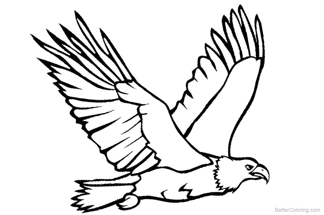 Eagle Coloring Pages Flying Eagle Lineart - Free Printable Coloring ...